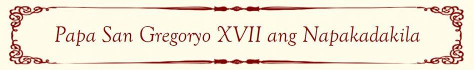 Pope Gregory XVII Banner (Filipino)